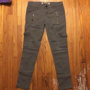 NWOT green skinny cargo jeans